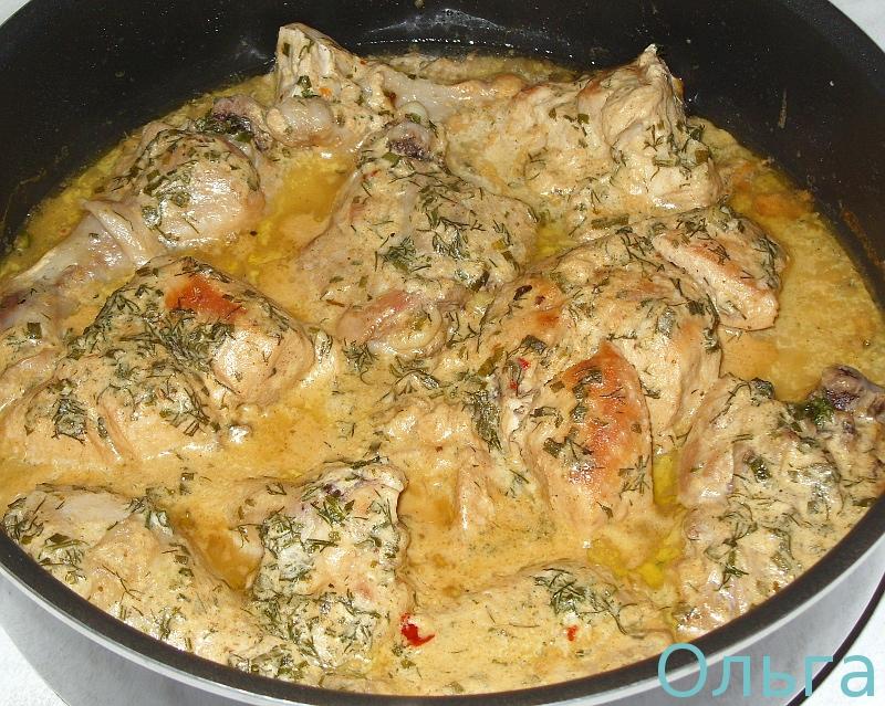 Куриное филе в соусе Куриное филе со сметаной