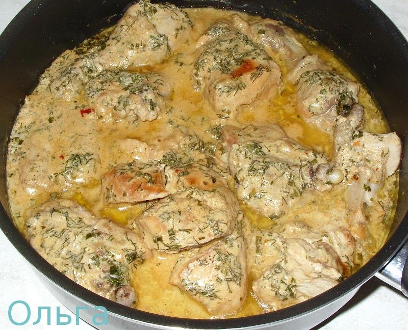 Курица в соусе в сковороде рецепт