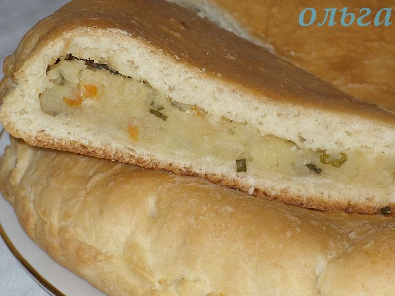 Пирог с картошкой и капустой в духовке